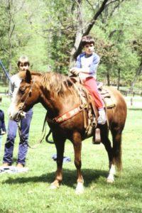 Horseback 7 year old Eric