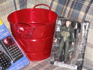 Red Pail & Action Figure